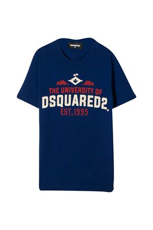 T-shirt blu con stampa logo DSQUARED2 kids DSQUARED2 KIDS | 8 | DQ0497D002FDQ865