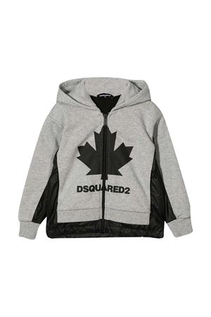 Felpa grigia teen Dsquared2 kids DSQUARED2 KIDS | -108764232 | DQ049ED00J8DQ911T