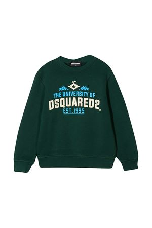 Dark green sweatshirt Dsquared2 Kids  DSQUARED2 KIDS | -108764232 | DQ049LD002GDQ560