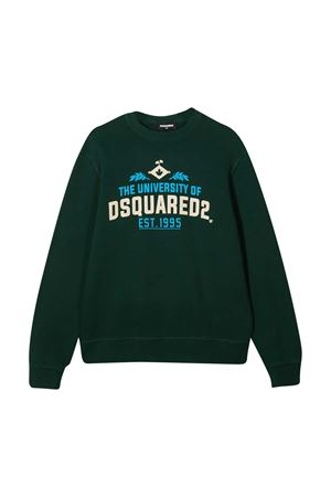 Green sweatshirt teen Dsquared2 Kids  DSQUARED2 KIDS | -108764232 | DQ049LD002GDQ865T