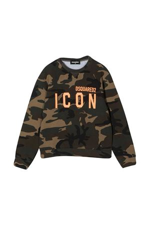 Felpa camouflage teen Dsquared2 Kids DSQUARED2 KIDS | -108764232 | DQ049UD002WDQC03T