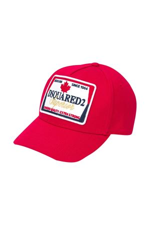 Red baseball hat Dsquared2 Kids  DSQUARED2 KIDS   75988881   DQ04ACD00I8DQ415