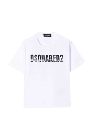 T-shirt bianca teen Dsquared2 kids DSQUARED2 KIDS | 8 | DQ04BUD00MMDQ100T