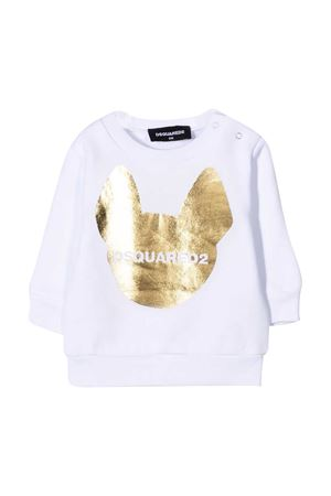 Felpa bianca Dsquared2 kids DSQUARED2 KIDS | -108764232 | DQ04DCD001FDQ100