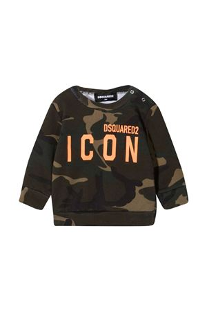 Felpa verde Dsquared2 Kids DSQUARED2 KIDS | -108764232 | DQ04DED002WDQC03