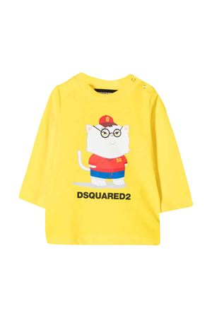 T-shirt gialla neonato Dsquared2 Kids DSQUARED2 KIDS | 8 | DQ04DXD00MMDQ205