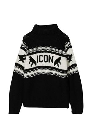 Black teen Dsquared2 Kids Icon sweater  DSQUARED2 KIDS | 7 | DQ04I5D003EDQ900T