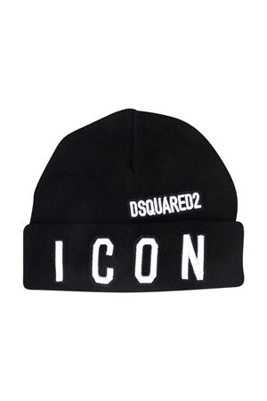Black wool cap Dsquared2 Kids  DSQUARED2 KIDS | 75988881 | DQ04IDD003KDQ900