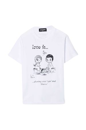 T-shirt bianca teen Dsquared2 Kids DSQUARED2 KIDS | 8 | DQ04J4D003LDQ100T