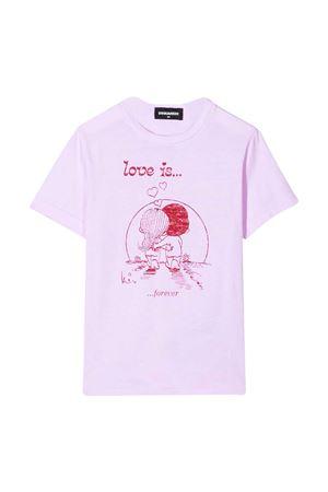 T-shirt rosa teen Dsquared2 Kids DSQUARED2 KIDS | 8 | DQ04J5D003LDQ310T