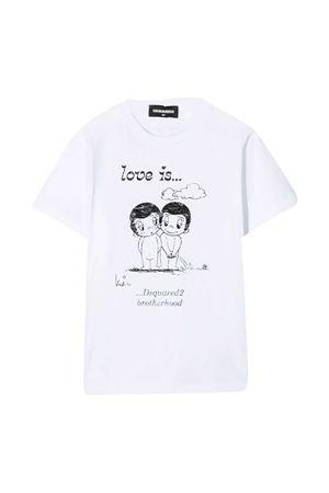 T-shirt bianca Dsquared2 Kids DSQUARED2 KIDS | 8 | DQ04J6D003LDQ100
