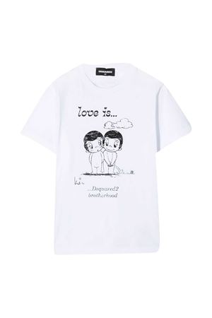 T-shirt bianca teen Dsquared2 Kids DSQUARED2 KIDS | 8 | DQ04J6D003LDQ100T