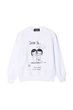 White sweatshirt teen Dsquared2 Kids  DSQUARED2 KIDS | -108764232 | DQ04J7D003MDQ100T