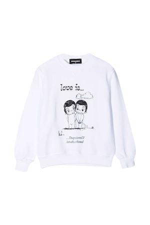 White sweatshirt teen Dsquared2 Kids  DSQUARED2 KIDS | -108764232 | DQ04J7D003MDQ100T