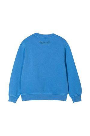 Light blue sweatshirt teen Dsquared2 Kids DSQUARED2 KIDS | -108764232 | DQ04J8D003MDQ867T