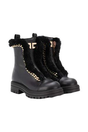 Black boots with gold details Elisabetta Franchi La mia bambina ELISABETTA FRANCHI LA MIA BAMBINA | 12 | 66781VAR2