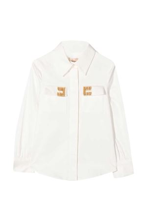 White shirt Elisabetta Franchi La mia bambina ELISABETTA FRANCHI LA MIA BAMBINA | 5032334 | EFCA114CA248ZE0220075