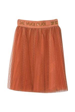 Orange skirt teen Elisabetta Franchi La mia bambina  ELISABETTA FRANCHI LA MIA BAMBINA   15   EFGO89TU42ZE0360133T