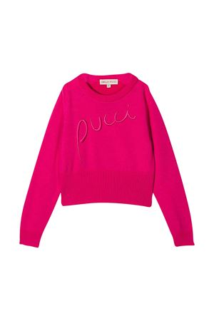 Fuchsia shirt with frontal logo embroidery Emilio Pucci Junior EMILIO PUCCI JUNIOR | 7 | 9N9000NE140514