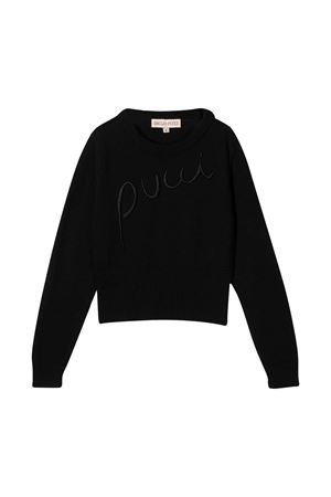 Black shirt with logo embroidery Emilio Pucci Junior EMILIO PUCCI JUNIOR | 7 | 9N9000NE140930