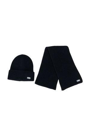Black hat and scarf baby set Emporio Armani kids EMPORIO ARMANI KIDS | 75988882 | 4075110A75900035