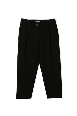 Black teen trousers with back application Emporio Armani kids EMPORIO ARMANI KIDS | 9 | 6H3P123JDQZ0999T