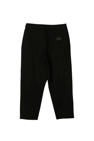Pantaloni neri con applicazione posteriore Emporio Armani Kids EMPORIO ARMANI KIDS | 9 | 6H3P123JDQZ0999