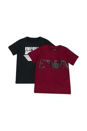 Pair of teen t-shirts Emporio Armani kids  EMPORIO ARMANI KIDS | 75988882 | 6H4D224J09Z0353T