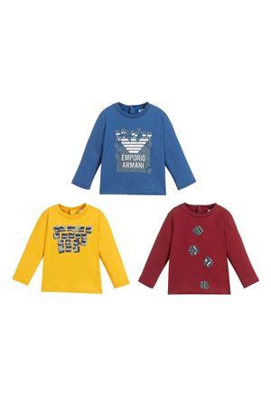 T-shirt set with frontal print Emporio Armani kids EMPORIO ARMANI KIDS | 75988882 | 6HHD214J09Z0917