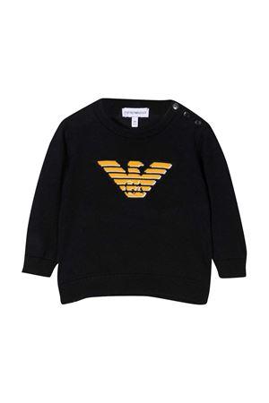 Emporio Armani Kids black sweater EMPORIO ARMANI KIDS | -108764232 | 6HHM564M13ZF918