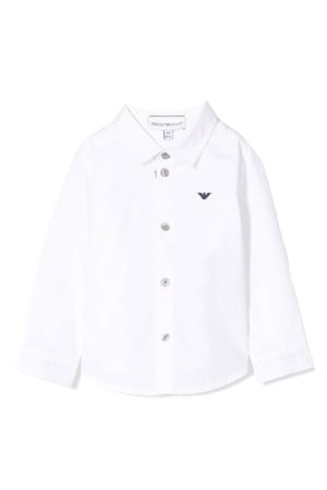 Camicia bianca con dettaglio logo Emporio Armani kids EMPORIO ARMANI KIDS | 5032334 | 8NHC014NGDZ0100