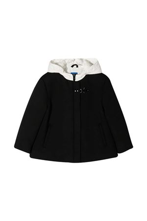 Black teen jacket with white hood Fay kids FAY KIDS | 3 | 5N2547NB910930BCT