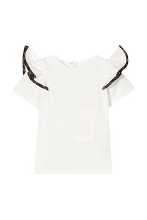 White t-shirt with ruffles Fendi kids FENDI KIDS | 8 | BFI1217AJF0TU9