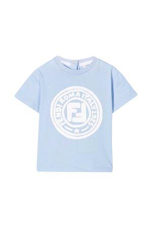 Blue baby T-shirt Fendi kids FENDI KIDS | 8 | BMI2117AJF06D6