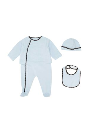 Three-piece Fendi Kids blue baby set FENDI KIDS | 75988882 | BUK068ACVPF19J4