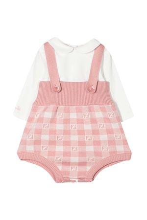 Set camicia e salopette rosa Fendi Kids FENDI KIDS | 75988882 | BUL045A3TEF0UJ2