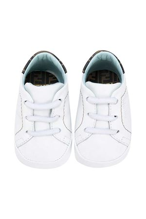 White sneakers with perforated logo Fendi kids FENDI KIDS | 12 | BUR032ADGAF0AKH