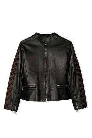 Biker black jacket Fendi kids FENDI KIDS | 3 | JFA131NBAF0GMET