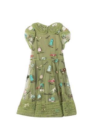 Green dress Fendi Kids  FENDI KIDS | 11 | JFB396ACMCF0B8X