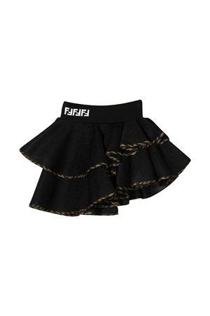 Black asymmetrical skirt Fendi kids FENDI KIDS | 15 | JFE057ACA0F0QA1