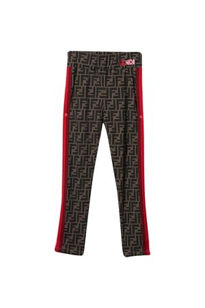 Leggings marroni Fendi Kids FENDI KIDS | 411469946 | JFF209ADF3F0E0X