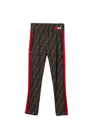 Brown leggings teen Fendi Kids  FENDI KIDS | 411469946 | JFF209ADF3F0E0XT