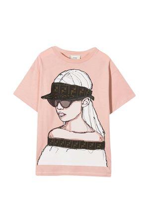 Pink T-shirt Fendi Kids  FENDI KIDS | 8 | JFI2067AJF19J0