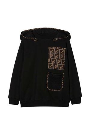 Black sweatshirt Fendi kids FENDI KIDS | -108764232 | JMH1275V0F0QA1