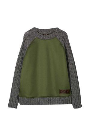 Gray and green sweatshirt Fendi kids FENDI KIDS | -108764232 | JMH132A8LGF0WX4
