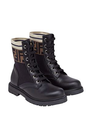 Black boots with round tip Fendi kids FENDI KIDS | 12 | JMR329A8CUF17SD