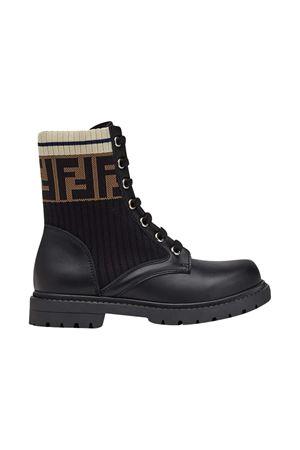Black boots with round tip Fendi kids FENDI KIDS   12   JMR329A8CUF17SD