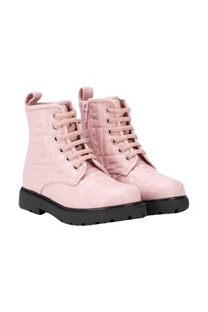 Pink Fendi Kids lace-up boots  FENDI KIDS | 12 | JMR338AADSF0QD1