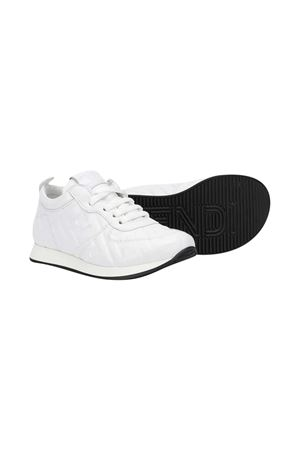 Sneakers bianche con motivo FF Fendi kids FENDI KIDS | 12 | JMR339AADSF0WA0