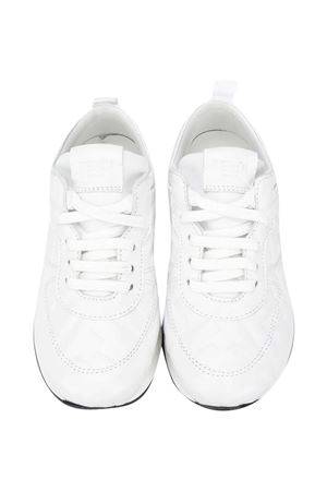 White sneakers with FF pattern Fendi kids FENDI KIDS | 12 | JMR339AADSF0WA0